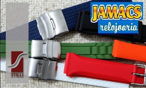 pulseiras em silicone stilli relojoaria jamacs copacabana - rua djalma ulrich 163